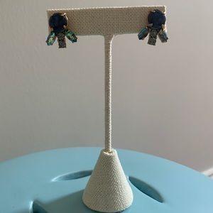 J Crew Stud earring in sapphire
